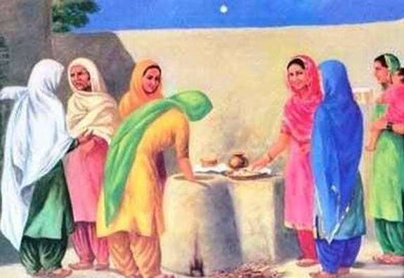 Village Women Working on Tendor Painting