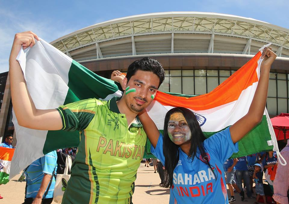 Pakistani boy with indian girl during Worldcup 2015
